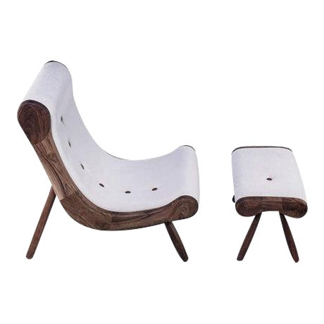 Danish Lounge Chair & Ottoman - Image 1 of 8
