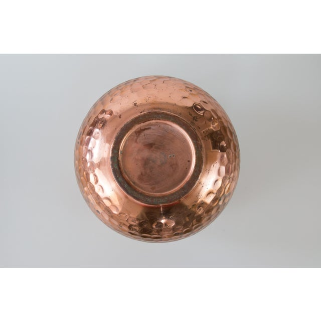 Mid 20th Century French Hammered Copper Bowl Planter For Sale - Image 5 of 7