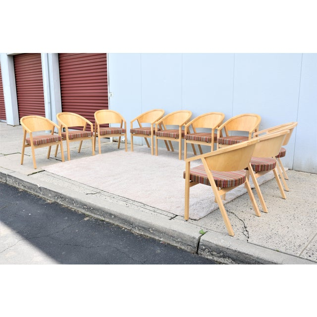 Contemporary Modern Peter Shelton and Lee Mindel for Knoll Shelton Mindel Side Chairs- Set of 10 For Sale - Image 3 of 13