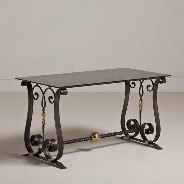 A Cast Iron Table in the Manner of Piquet circa 1925 For Sale - Image 4 of 4