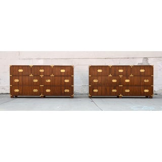 Pair of Walnut Baker Chests of Drawers Preview