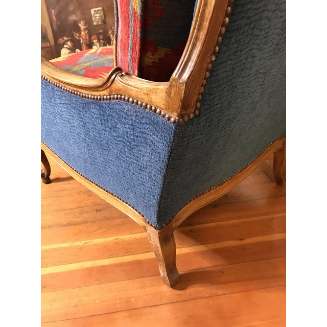 Late 19th Century 19th Century French Upholstered and Carved Armchair For Sale - Image 5 of 13