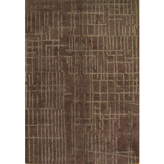 """Pasargad Ny Modern Hand Tufted Area Rug - 5'3"""" X 7'6"""" For Sale"""