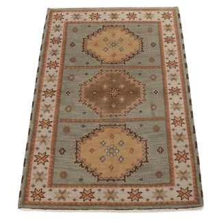 Hand-Knotted Kazak Rug-4'2 x 6'3 For Sale