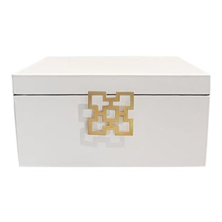 White Wooden Jewelry Box For Sale