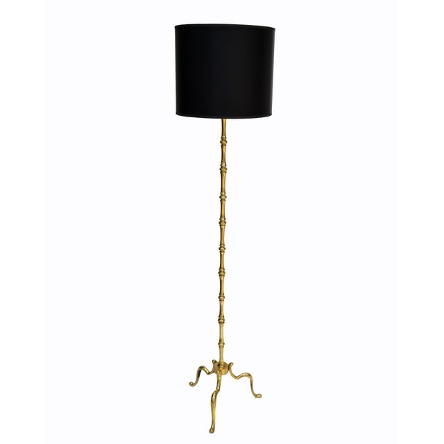 Maison Baguès French Neoclassical Bronze Bamboo Floor Lamp For Sale - Image 12 of 13