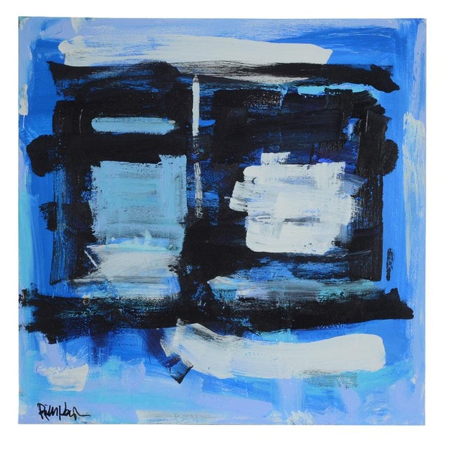 Robbie Kemper Signed Original Abstract Acrylic Painting - Image 6 of 6