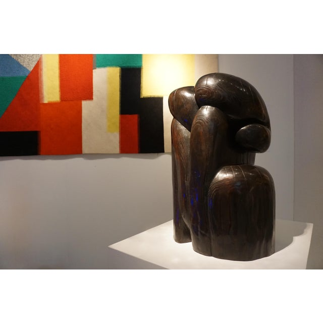 """Wang Keping (China, B.1949) COUPLE Inscribed """"?K"""" and numbered """"5/8"""" Bronze (hammered with patina) sculpture 54 x 30 x 34..."""