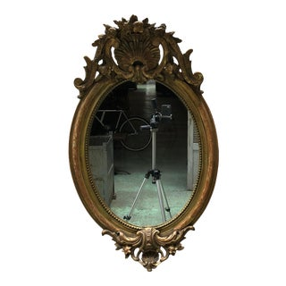 19th Century Small Ovale Mirror For Sale