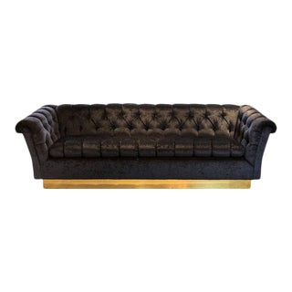 Vintage Hollywood Regency Chesterfield Sofa For Sale