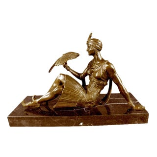 Modern French Art Deco Style Female Dancer Sculpture by Descomps For Sale