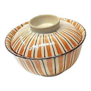 Japanese Seto Mugiwara Ware Chawan Rice Bowls For Sale