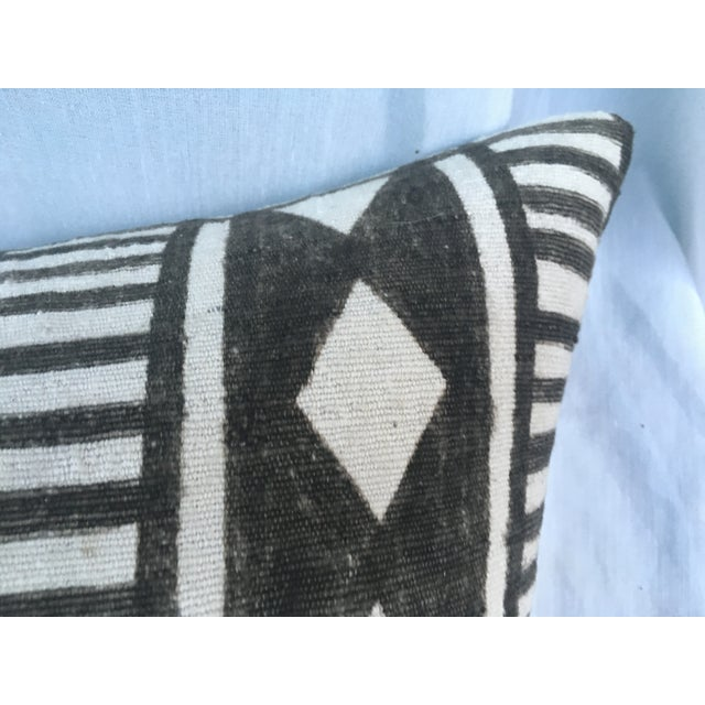 African Tribal Mud Cloth Pillow - Image 5 of 7