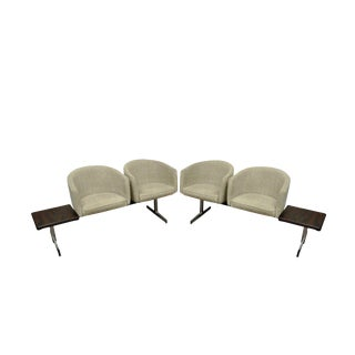 Vintage Mid-Century Danish Modern Rosewood End Tables Club Chairs Sectional Sofa - 2 Piece For Sale
