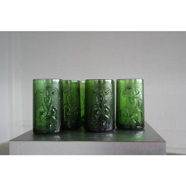 Set of 6 Viking Glass Beer Mugs by John Käll for Elme Glasbruk Sweden - Image 8 of 8