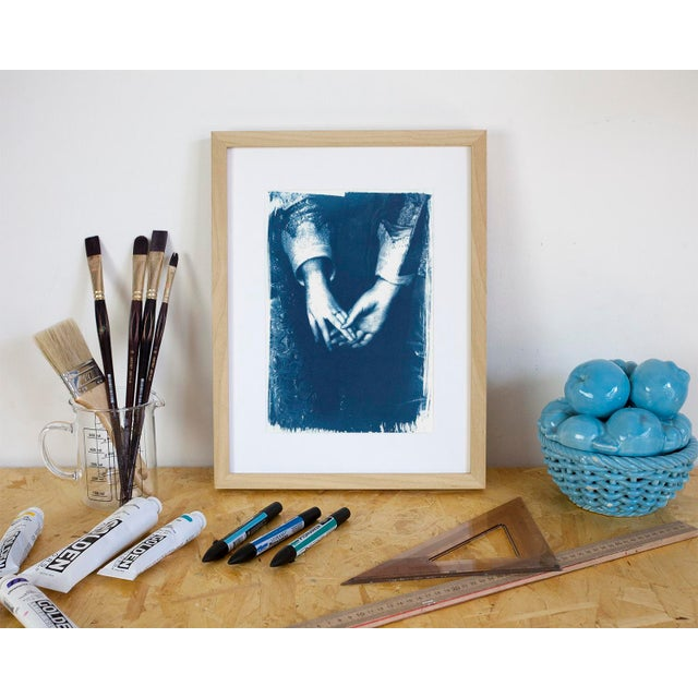Illustration Engagement Painting by Antony Van Dyke, Cyanotype Print on Watercolor Paper (Limited Edition) For Sale - Image 3 of 4