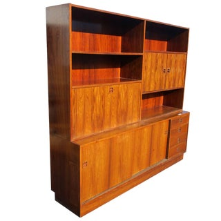 1 Rosewood Poul Hundevad Wall Unit for Jensen & Herning For Sale