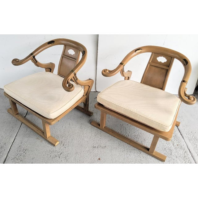 """Asian Baker Furniture, Michael Taylor - Oriental Lounge Chairs, """"Far East Collection"""", 1960's / a Pair For Sale - Image 3 of 13"""