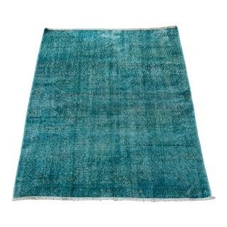 Vintage Doormat Small Runner Home Decor Turkish Oushak Rug - 3′1″ × 4′2″ For Sale