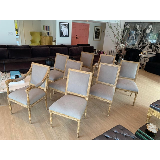 Wood Nancy Corzine Chairs - Set of 8 For Sale - Image 7 of 13