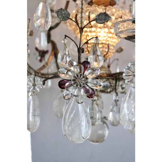 Masion Bagues, 12-Light, Rock Crystal & Amethyst Chandelier For Sale - Image 10 of 11