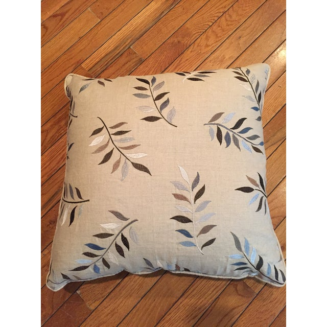 Autumn Leaves Print Pillows - A Pair For Sale - Image 4 of 7