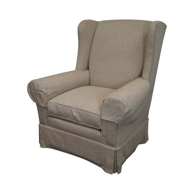 Lexington Tan Upholstered Lounge Chair For Sale