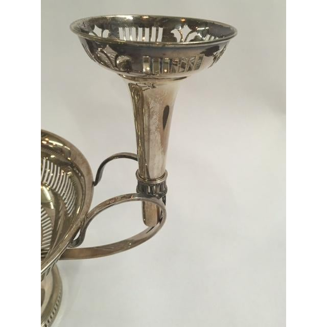 Mid-Century Modern English Silverplated Epergne For Sale - Image 3 of 4
