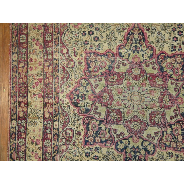 19th Century Lavar Kerman Rug, 4' x 6'4'' For Sale - Image 9 of 11