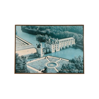 Extra Large Vintage Framed Poster, Châteaux of the Loire Valley For Sale