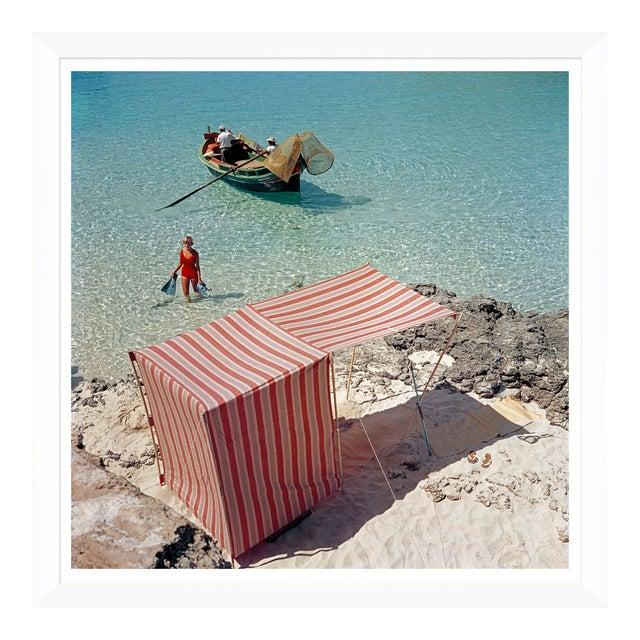 """Slim Aarons, """"Marietine Birnie, Blau Lagoon,"""" July 1, 1959 Getty Images Gallery Art Print For Sale"""