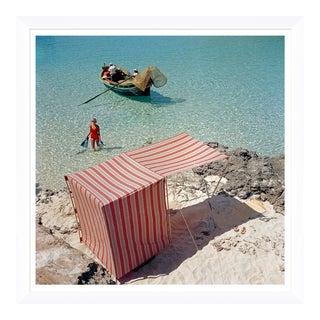 """Slim Aarons, """"Marietine Birnie, Blau Lagoon,"""" July 1, 1959 Getty Images Gallery Framed Art Print For Sale"""