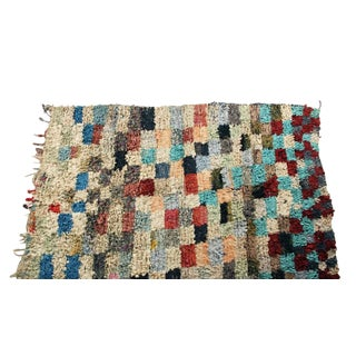 """Vintage Boucherouite Carpet - 7'8"""" X 5'2"""""""