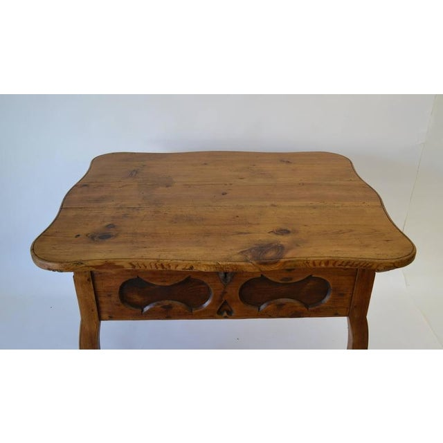 Baroque Pitch Pine and Oak Baroque Revival Centre Table For Sale - Image 3 of 8