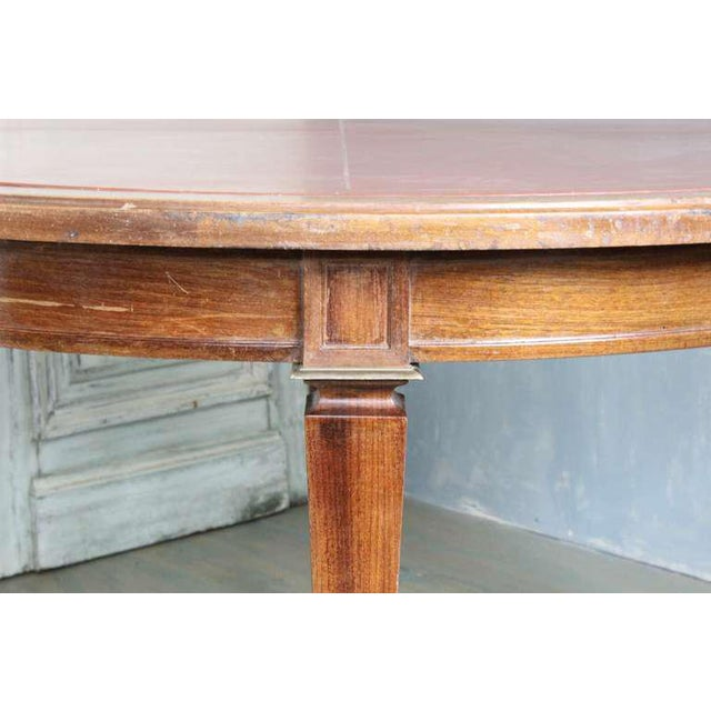 French 1940s Mahogany Card Table For Sale In New York - Image 6 of 8