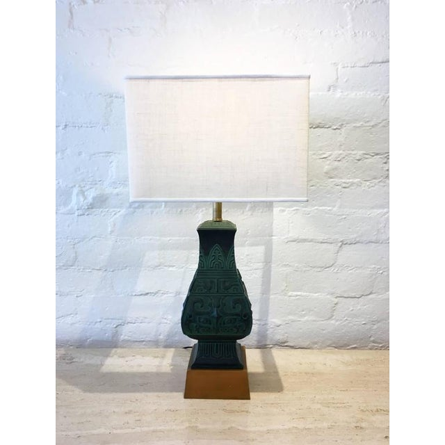 Bronze Table Lamps in the Manner of James Mont - A Pair - Image 2 of 9