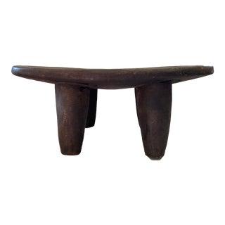 "African Senufo Wood Milk Stool I Coast 8"" H by 18.75"" W For Sale"