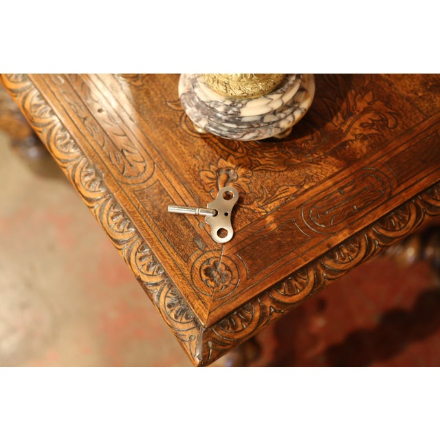 19th Century French Marble and Bronze Mantel Clock With Matching Cassolettes For Sale - Image 12 of 13