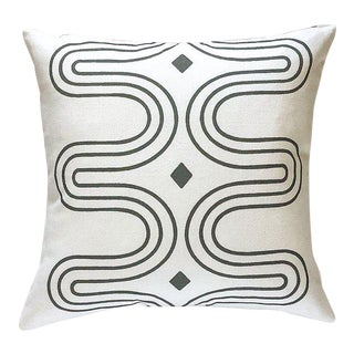 Contemporary Eames Retro Curves Pillow Cover For Sale