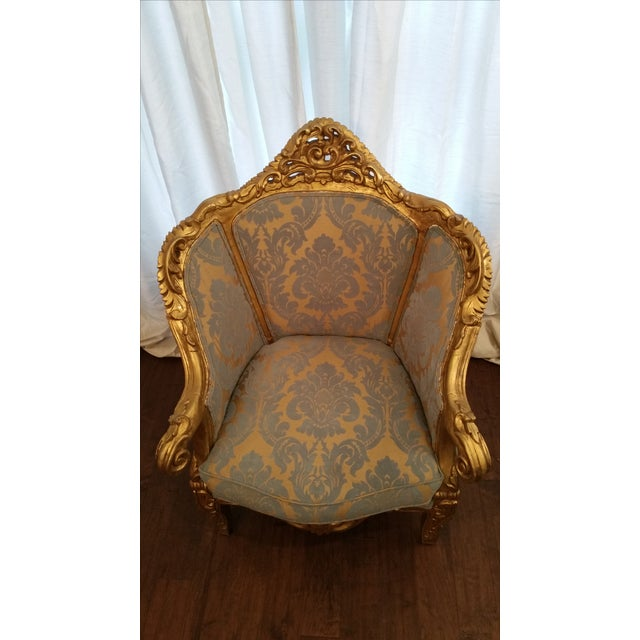 Antique French Louis XV Gilt Wood Chairs - Pair - Image 3 of 11