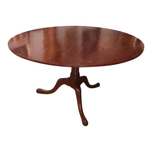 18th Century Victorian Mahogany Tilt Top Game Table For Sale