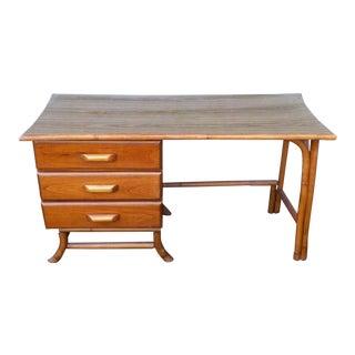 Mid Century Modern Mini Wood Writing/Vanity Desk