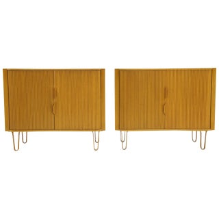 Pair of Dunbar Chests, Dressers or Mister Cabinets With Tambour Doors, Rare For Sale