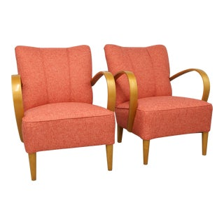 1940s Vintage Swedish Art Deco Hoop Armchairs - A Pair For Sale