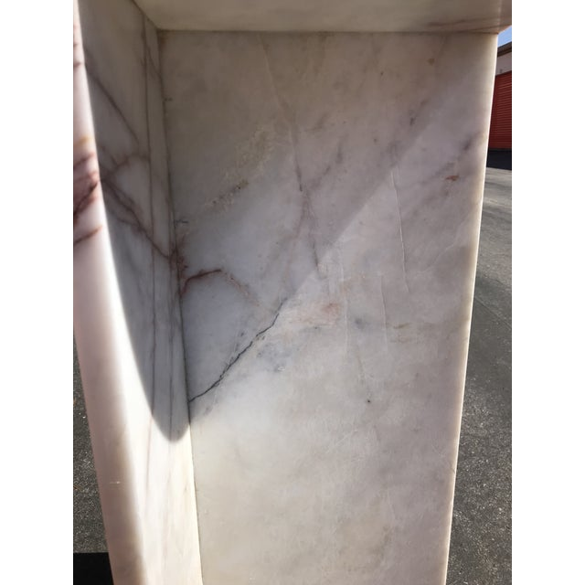1970's Vintage Solid Marble Side Table For Sale - Image 9 of 12