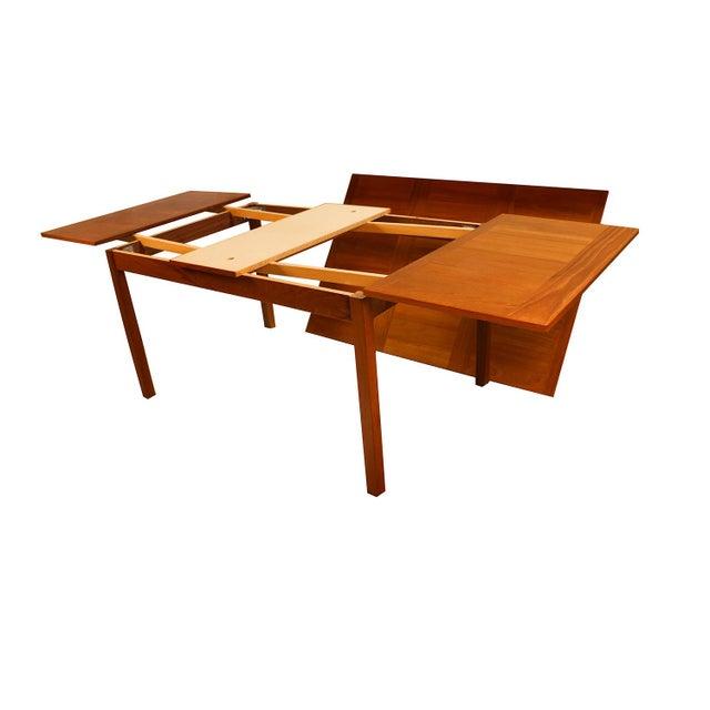 Danish Modern Teak Extendable Dining Table Vejle Stole Møbelfabrik For Sale In Baltimore - Image 6 of 11