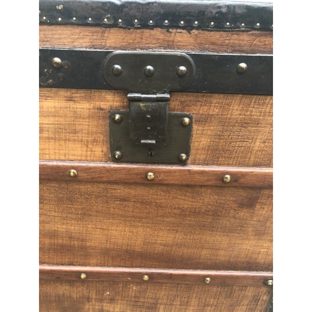 1910s French Louis Vuitton Steamer Trunk For Sale - Image 10 of 13