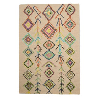New Beni Ourain Style Hand Tufted Wool Rug 7x9
