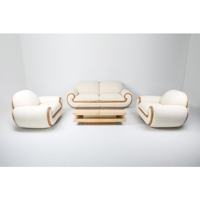 Vivai Del Sud Sofa in Bouclé Wool and Rattan For Sale - Image 10 of 12