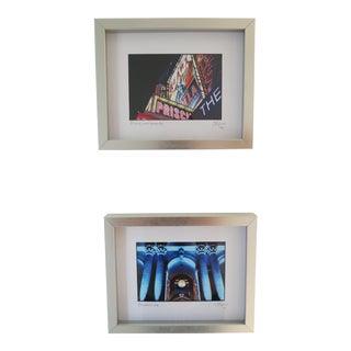 Duo of New York City Photographs, Framed by C. Damien Fox For Sale